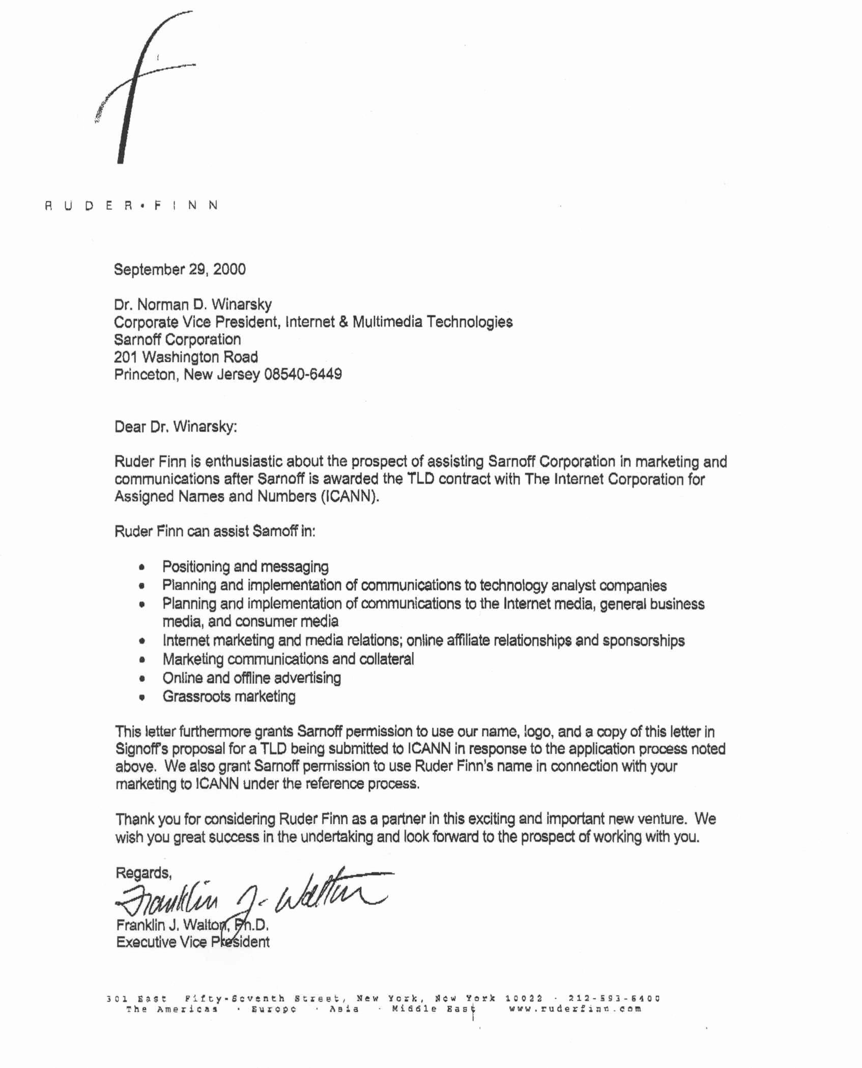 Partnership Letter Sample Unique D13