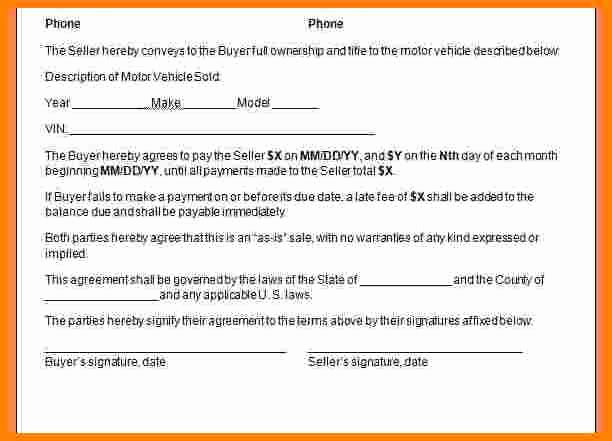 Payment Installment Agreement Template Beautiful 10 Take Over Car Payment Agreement form