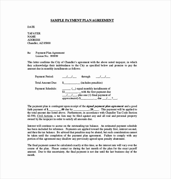 sample payment agreement