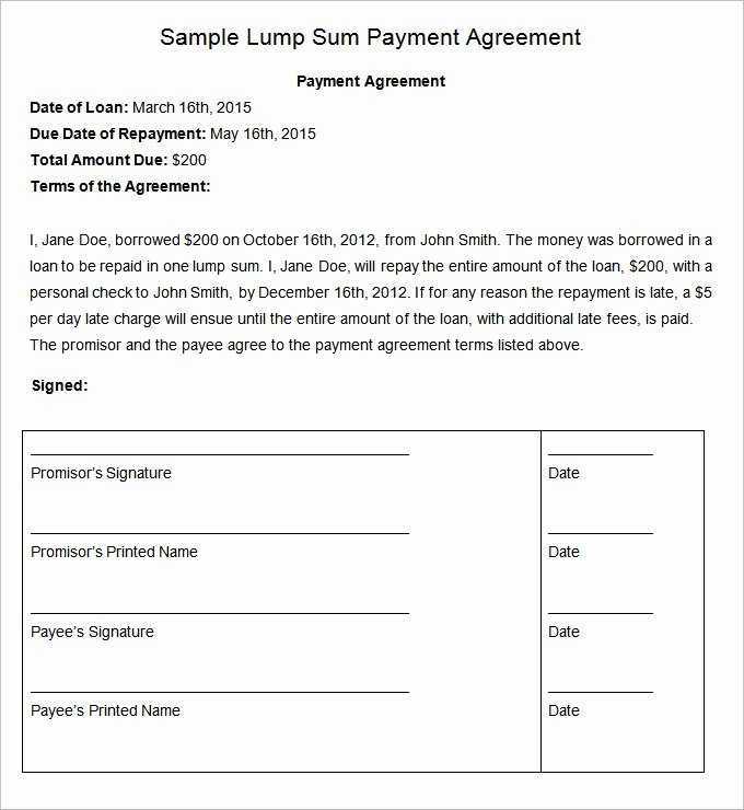 Payment Plan Letter Template Fresh Payment Plan Agreement Template 12 Free Word Pdf
