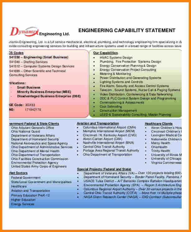 Payoff Statement Template Word Unique 5 Capability Statement Template Word