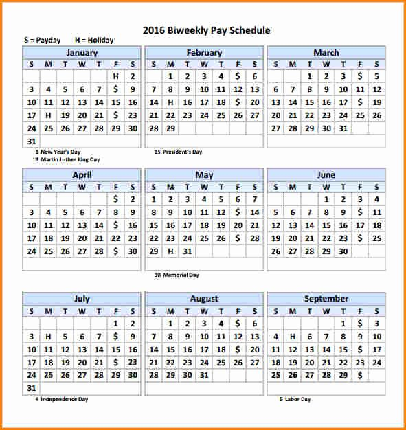 Payroll Calendar Templates Fresh 2018 Calendar Biweekly Payroll – 2018 New Year