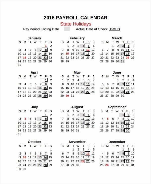 Payroll Calendar Templates Luxury 10 Payroll Calendar Templates