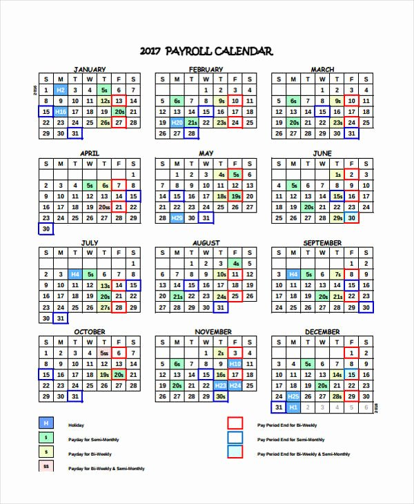 Payroll Calendar Templates Unique 7 Payroll Calendar Templates Sample Example