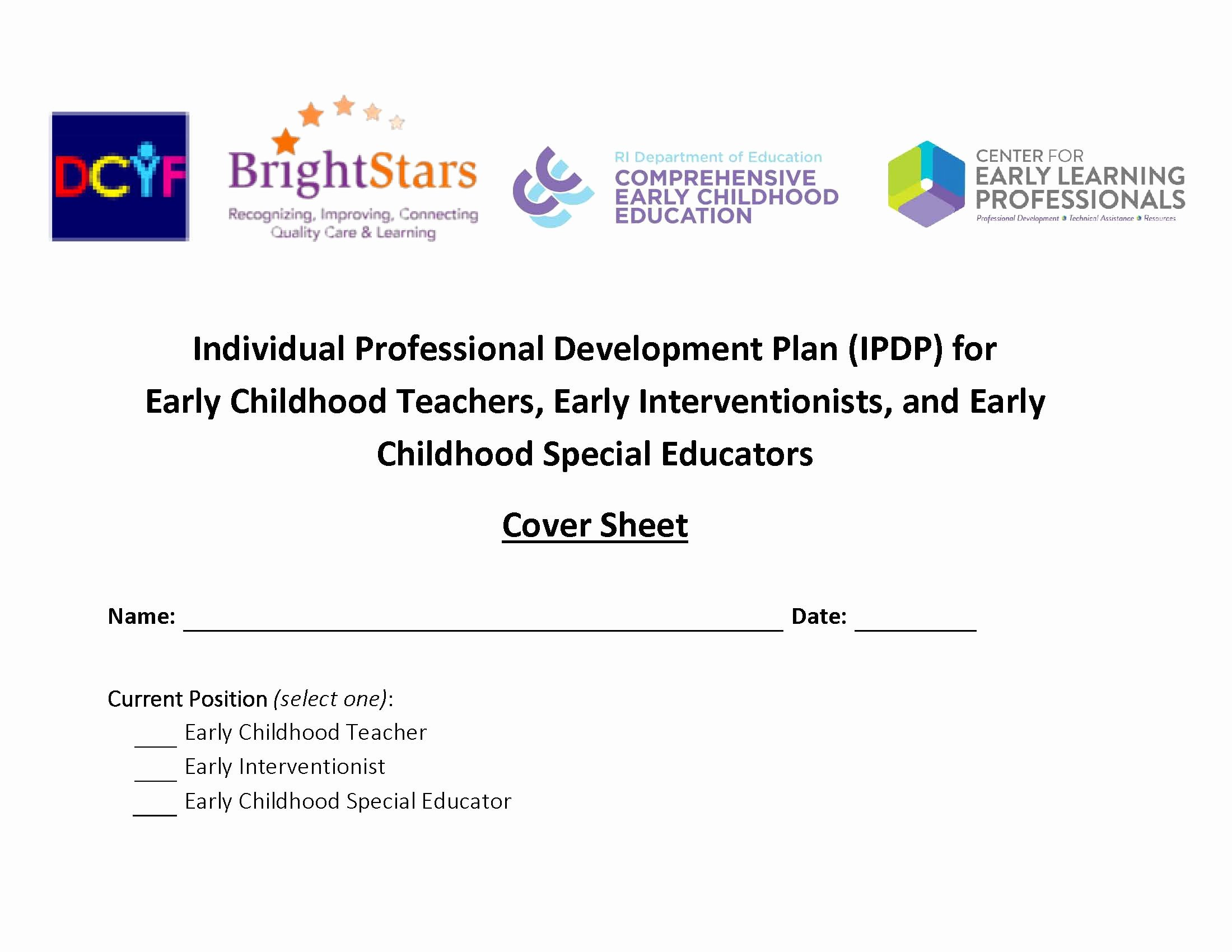 Personal Development Plan Childcare Example   Peterainsworth