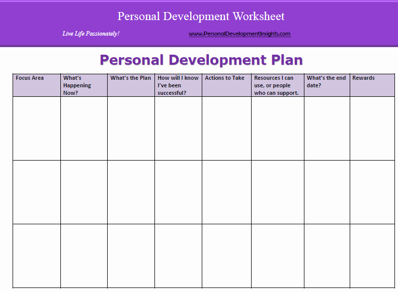 Personal Development Plan Childcare Example | Peterainsworth