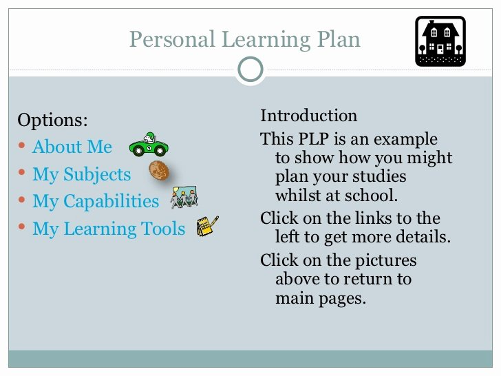 Personal Learning Plan Example Unique Personal Learning Plan Template