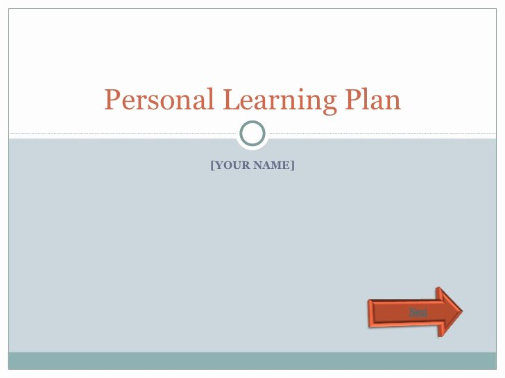 Personal Learning Plan Template Luxury Personal Learning Plan Template
