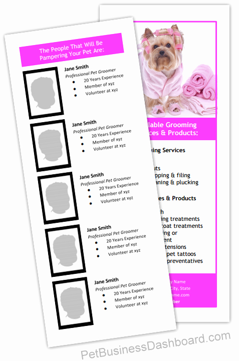 Pet Report Card Template Inspirational Dog Grooming Business Templates