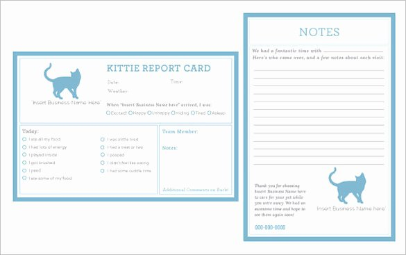 Pet Report Card Template Luxury 20 Report Card Templates Doc Pdf Psd