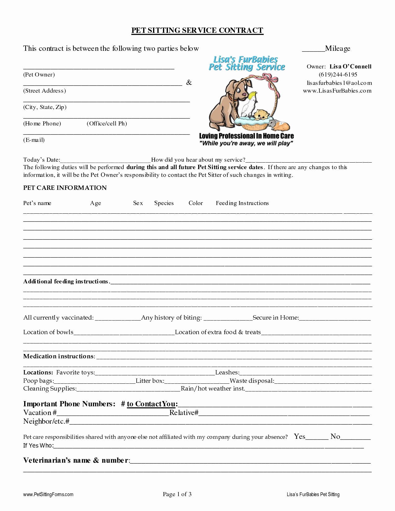 Pet Report Card Template Luxury Pet Sitting Contract Templates Dogs Pinterest