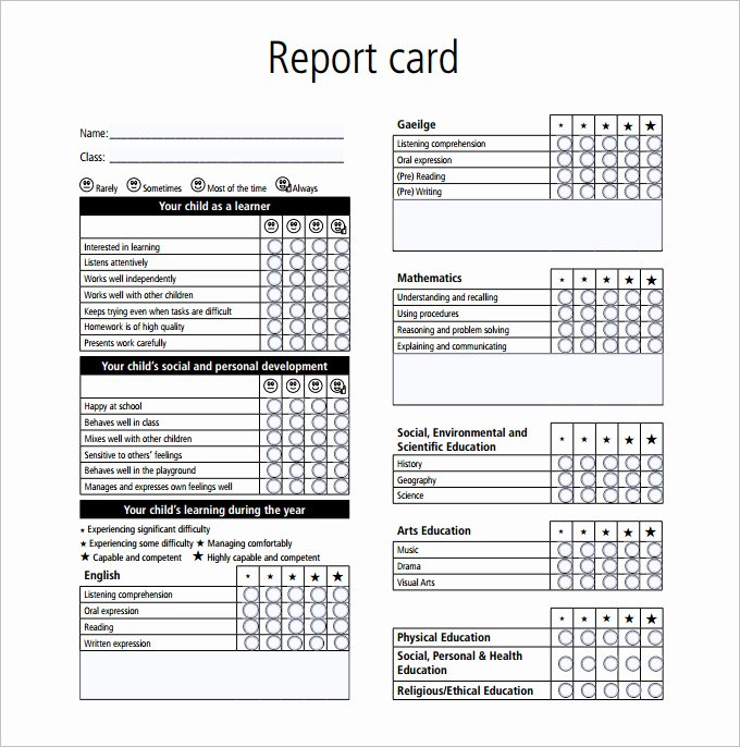 Pet Report Card Template New Report Card Template 28 Free Word Excel Pdf Documents