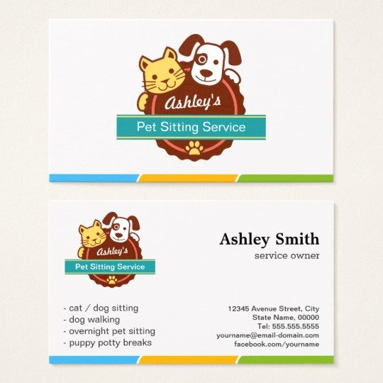 Pet Sitting Flyer Template Beautiful Pet Sitting Service Business Card