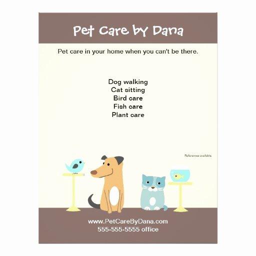 Pet Sitting Flyer Template Best Of Pet Sitter S Promotional Flyer