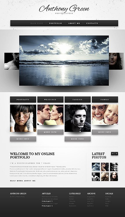 Photo Gallery Template HTML5 Awesome Template Grapher HTML5 Website Template with