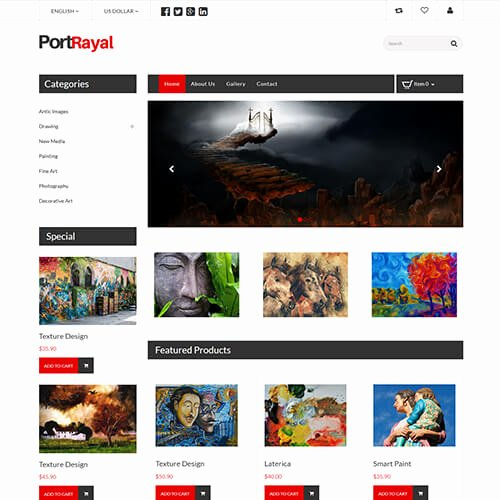 Photo Gallery Template HTML5 Lovely Portrayal – HTML5 Line Art Gallery Website Template