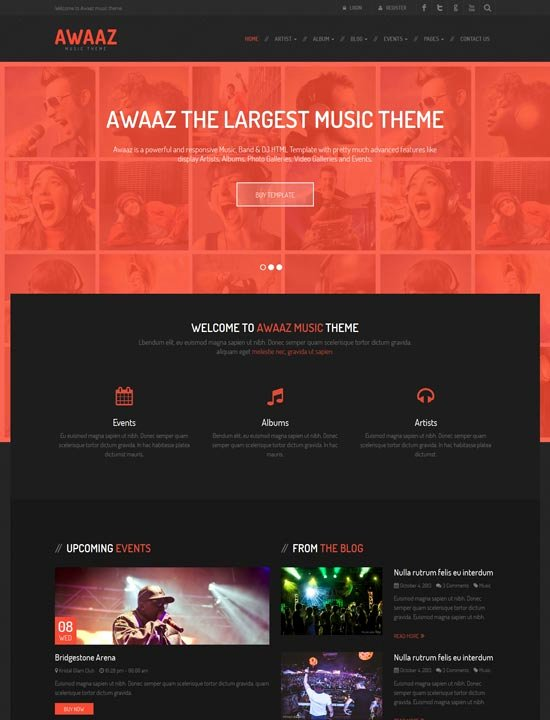 Photo Gallery Template HTML5 New 90 Best Music Website Templates Free & Premium