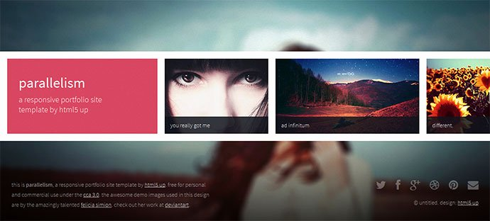 Photo Gallery Template HTML5 Unique 15 Creative & Beautiful Grid HTML Website Templates
