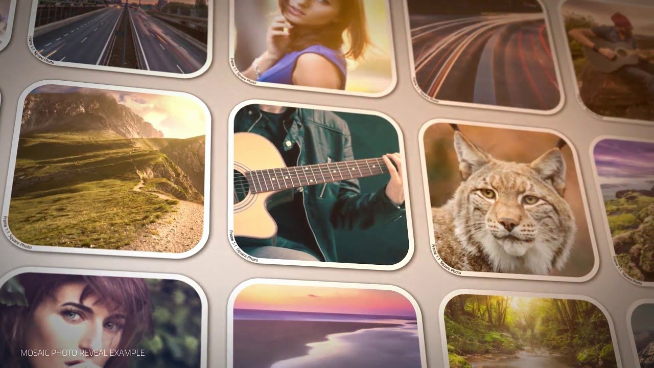 Photo Mosaic after Effects Awesome Mosaic 2018 Free after Effects Template Mosaic