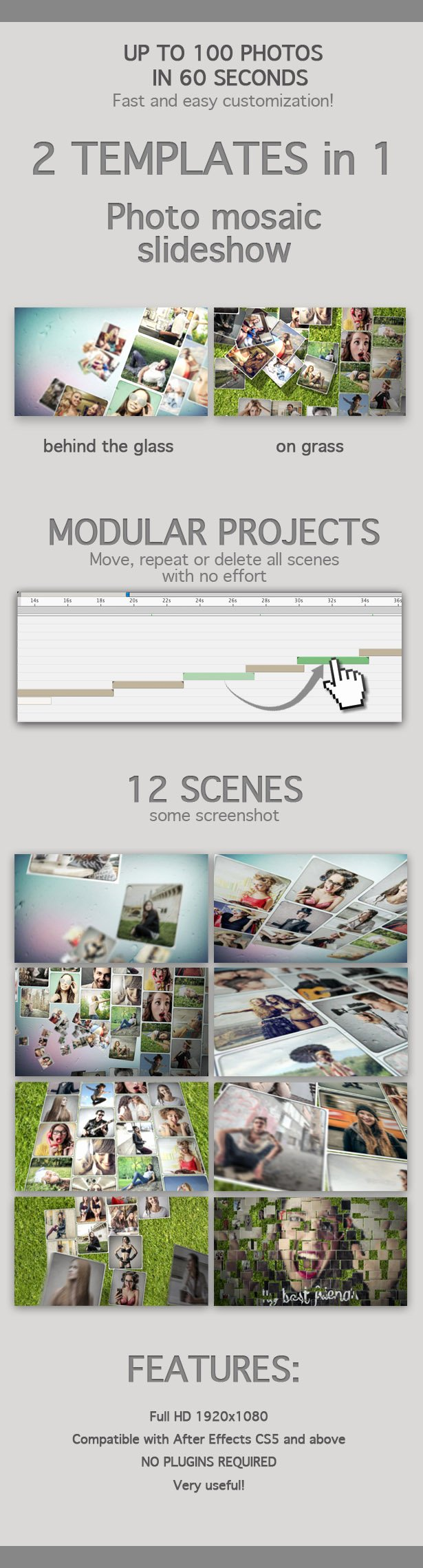 Photo Mosaic after Effects Best Of Mosaic Slideshow by Marcobelli