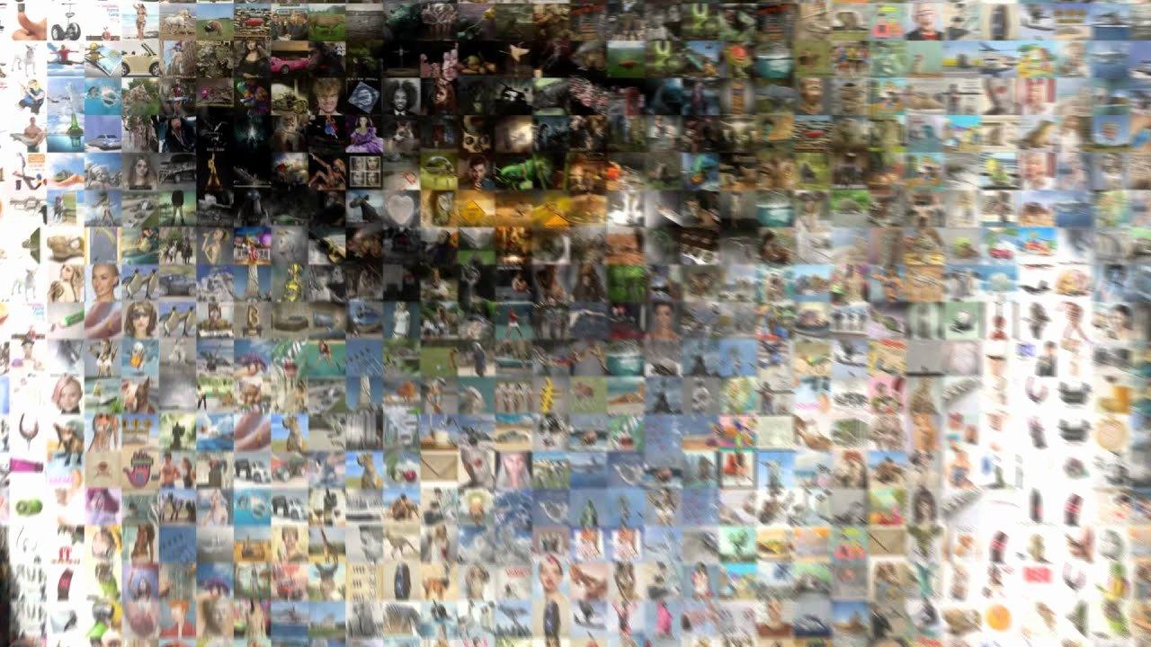 Photo Mosaic after Effects Best Of Mv Ics Mosaic Evil Angelina Jolie
