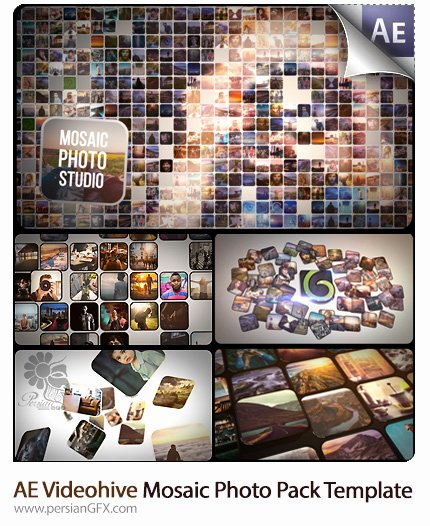 Photo Mosaic after Effects Elegant after Effects افترافکت