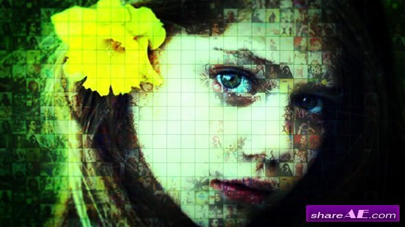 Photo Mosaic after Effects Elegant Videohive Mosaic Reveal Free after
