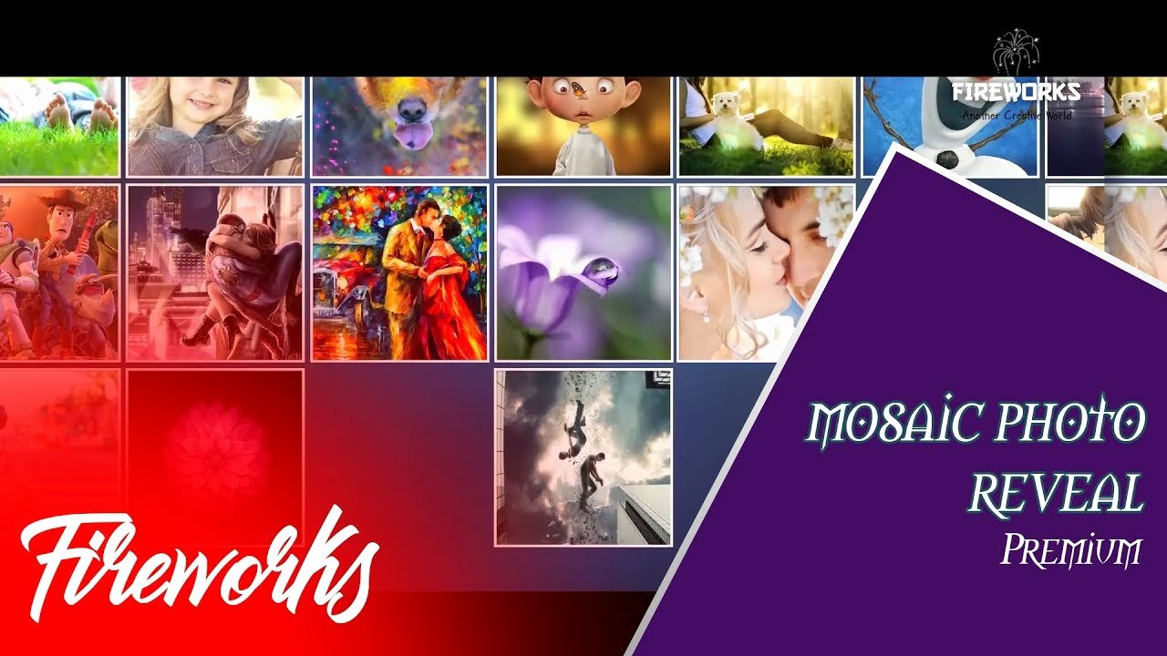 Photo Mosaic after Effects Fresh after Effects Free Template