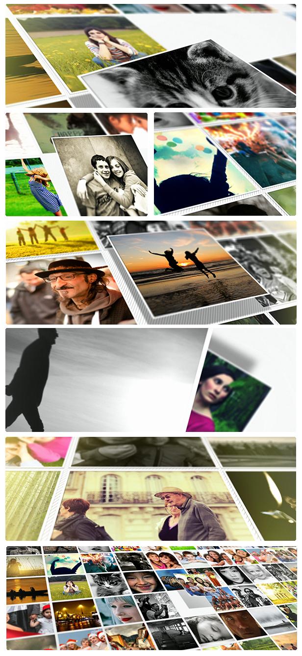 Photo Mosaic after Effects Inspirational Mosaic Photo Reveal after Effects Project Videohive
