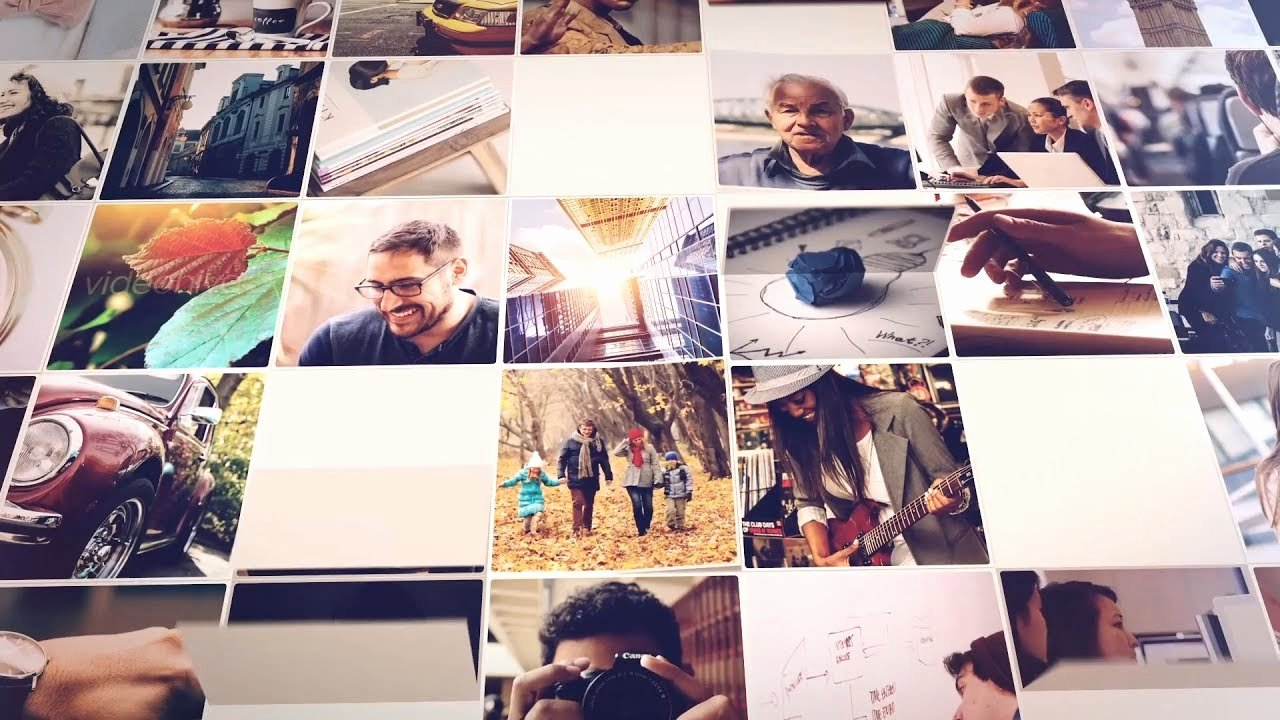 Photo Mosaic after Effects Luxury Mosaic Slideshow after Effects Template
