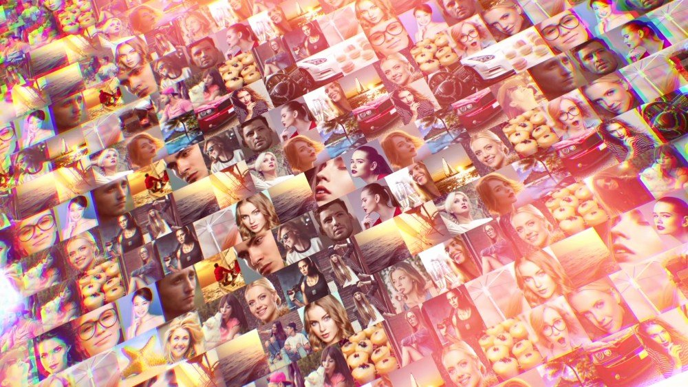 Photo Mosaic after Effects New Mosaic Intricate Logo Reveal after Effects Template