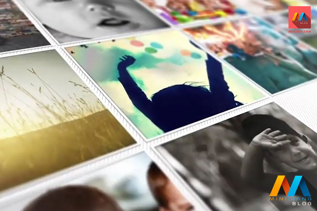 Photo Mosaic after Effects New Mosaic Reveal after Effects Template Minh Hoàng