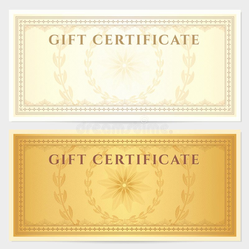 Photography Coupon Template Beautiful Vintage Voucher Coupon Template with Border Royalty Free