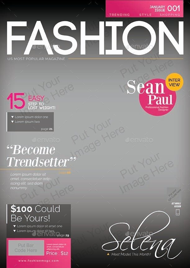 Photoshop Magazine Cover Template Awesome Magazine Cover Template