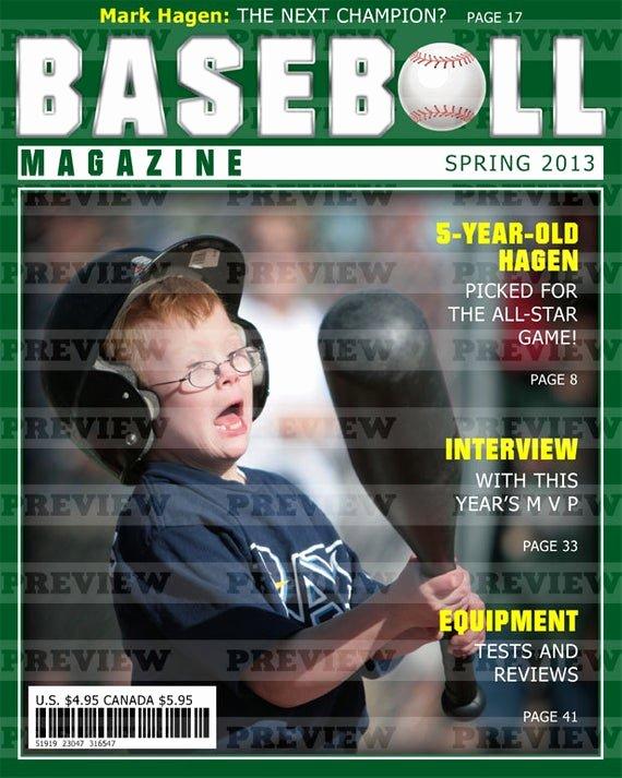 Photoshop Magazine Cover Template Awesome Mark Goldberg On Etsy