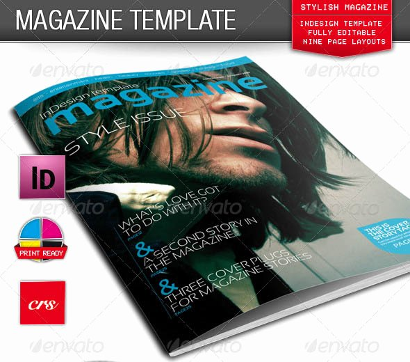 Photoshop Magazine Cover Template Inspirational 25 Shop & Indesign Magazine Cover Templates