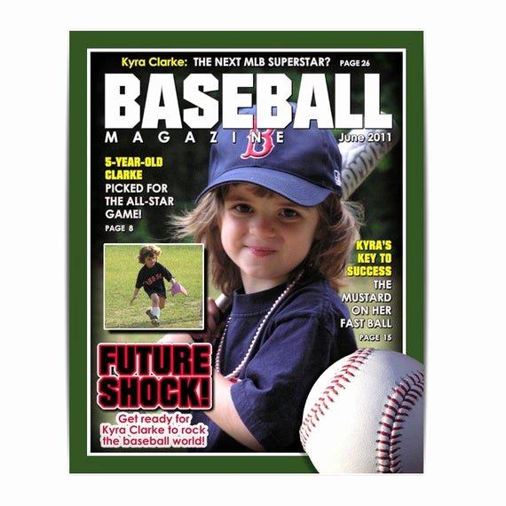 sports designs baseball magazine cover