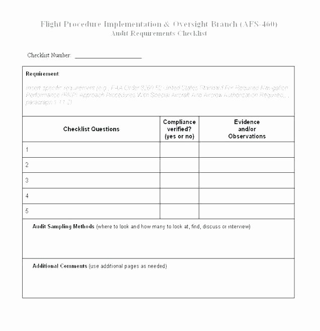 Physical Security Audit Checklist Fresh Mortgage Loan Audit Checklist