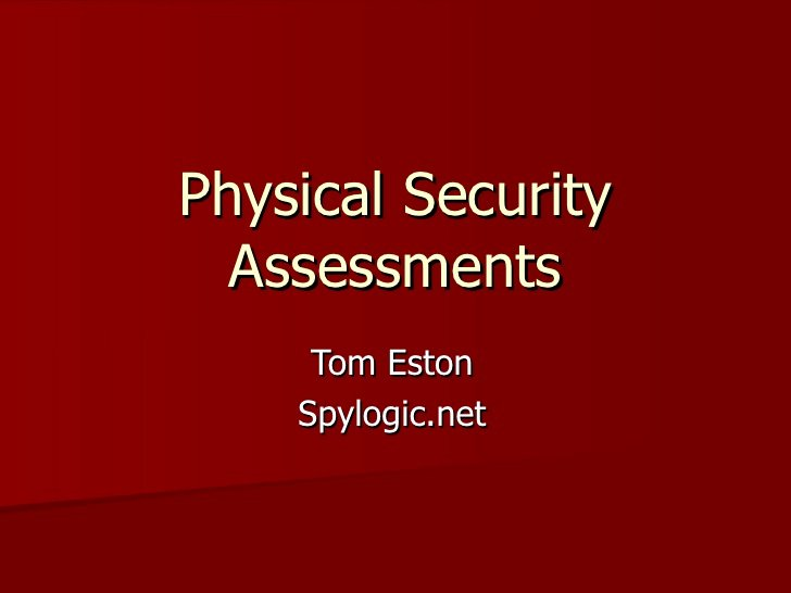 physical security audit checklist 17