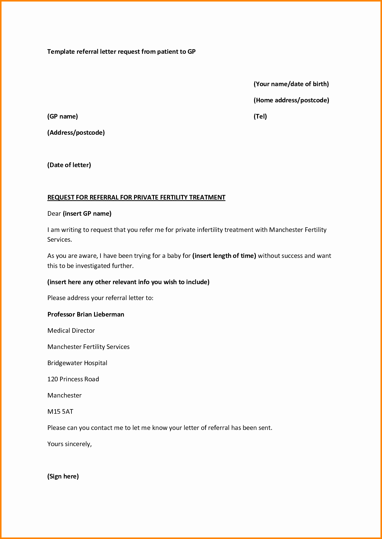 medical referral letter template microsoft word 2823