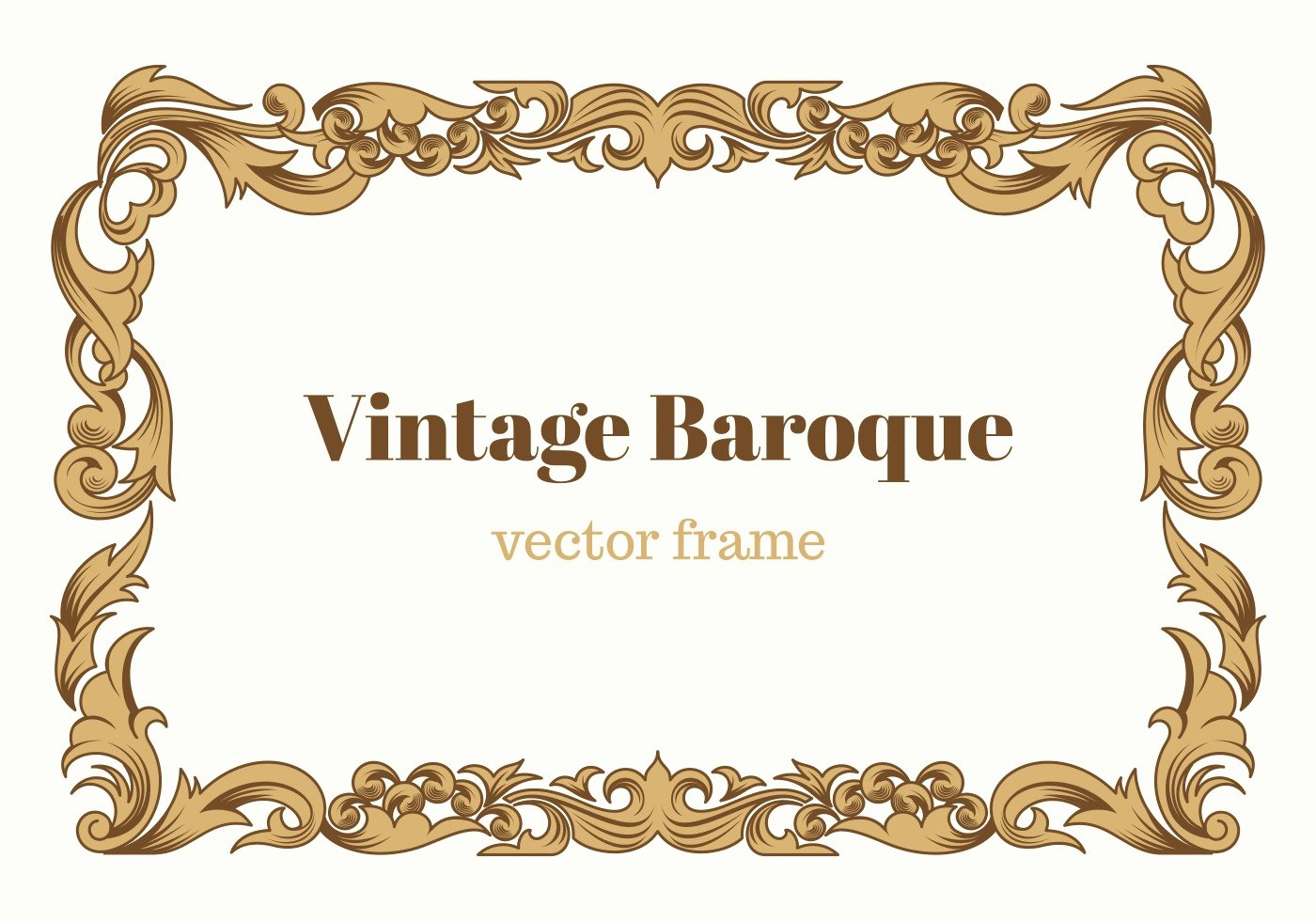 free vintage baroque vector frame