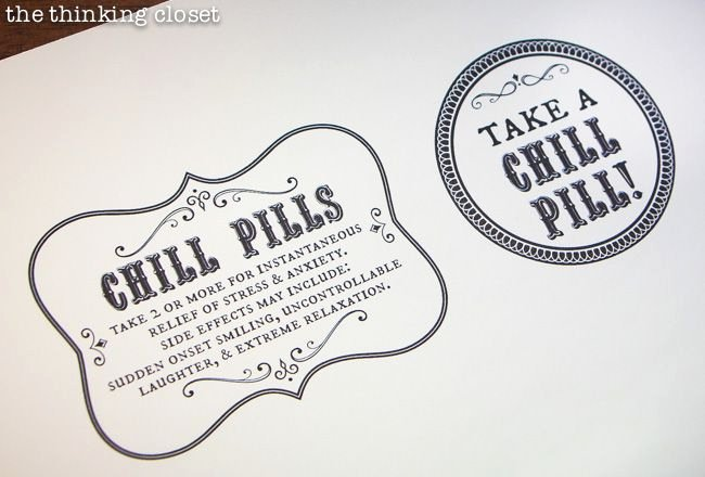 Pill Bottle Label Template Elegant Chill Pills Gag Gift & Free Printable Labels