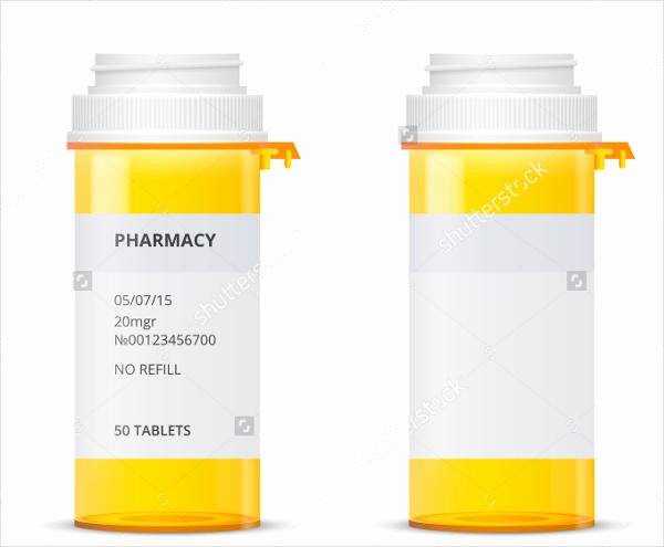 Pill Bottle Label Template Luxury 9 Pill Bottle Label Templates Design Templates