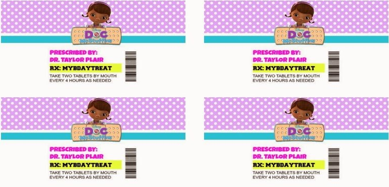 Pill Bottle Label Template Luxury Doc Mcstuffins Pill Bottle Instructions