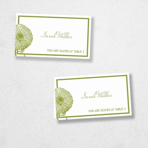 Place Card Template 6 Per Sheet Awesome Avery Place Card Template Instant Download Florel Design