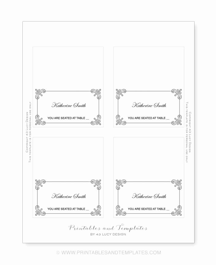 Place Card Template 6 Per Sheet Awesome Place Card Template 6 Per Sheet Icebergcoworking