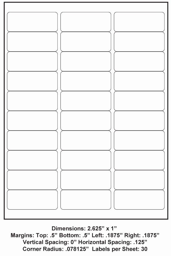 Place Card Template 6 Per Sheet Best Of Matte Clear Laser 2 625 X 1 30 Up 100 Sheet Box