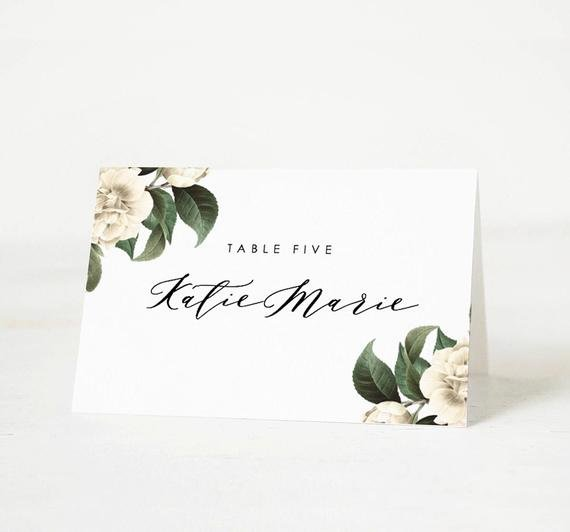 Place Card Template 6 Per Sheet Lovely Printable Place Card Template Wedding Place Card Name Tags
