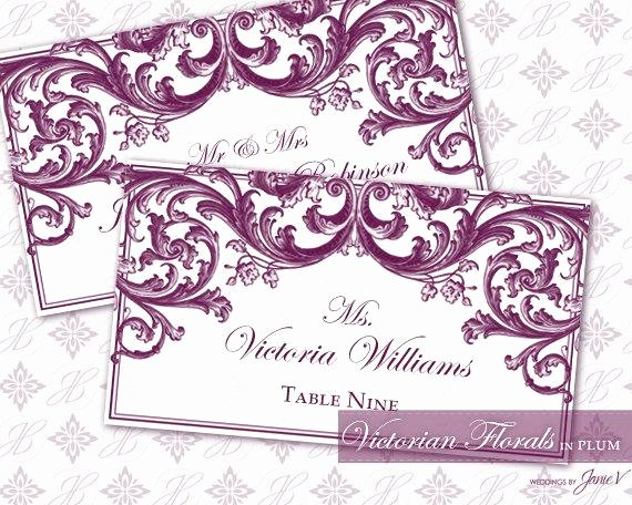 Place Card Template 6 Per Sheet Luxury Diy Printable Wedding Escort and Place Card Template
