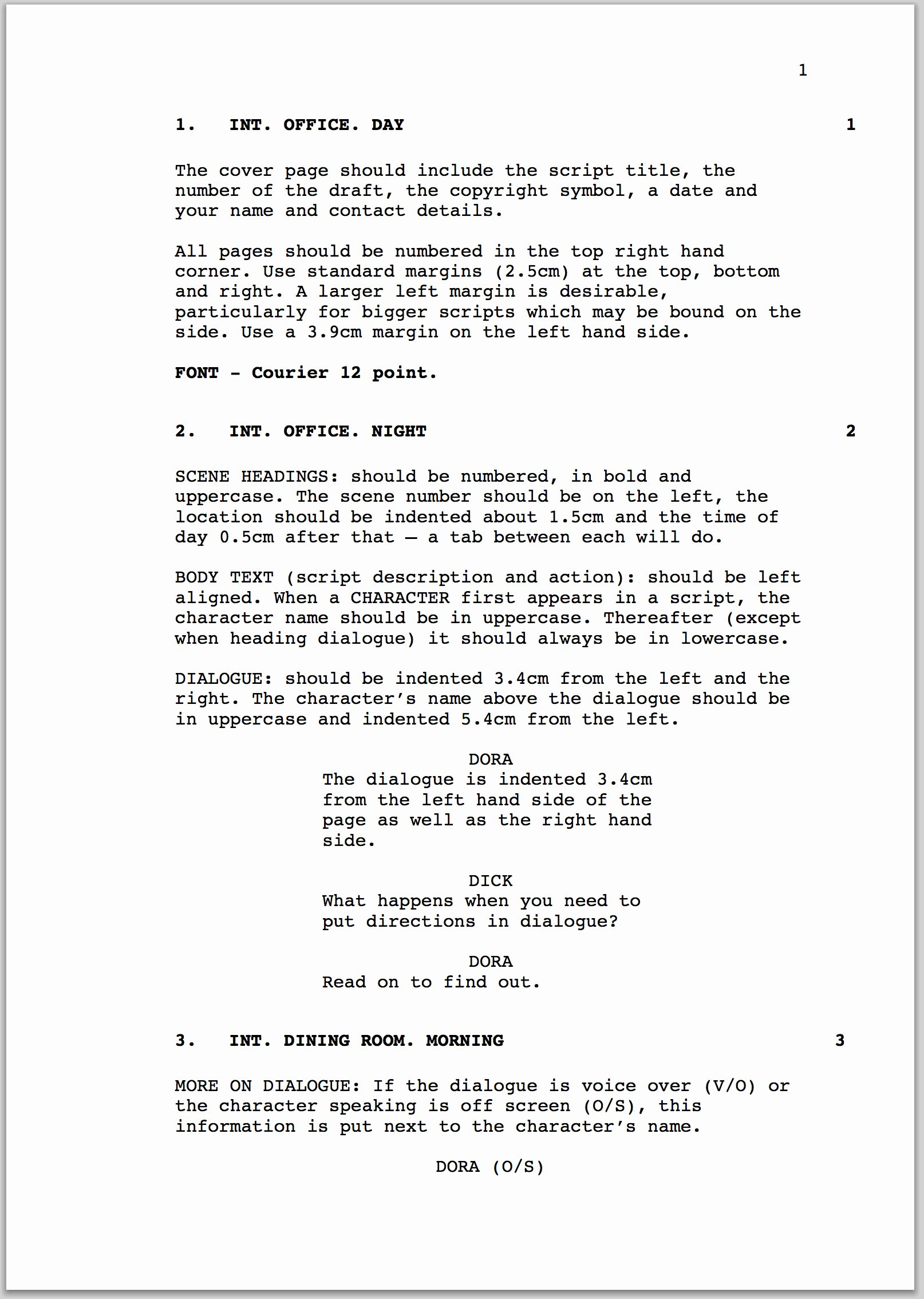 Play format Template Elegant How to format A Screenplay